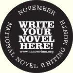 nanowrimo badge write novel here